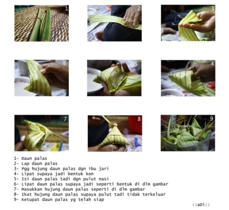 cara² membuat ketupat