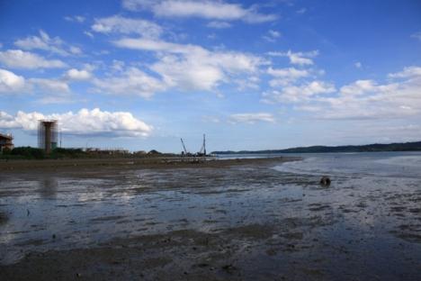 Kawasan pelabuhan di Lahad Datu