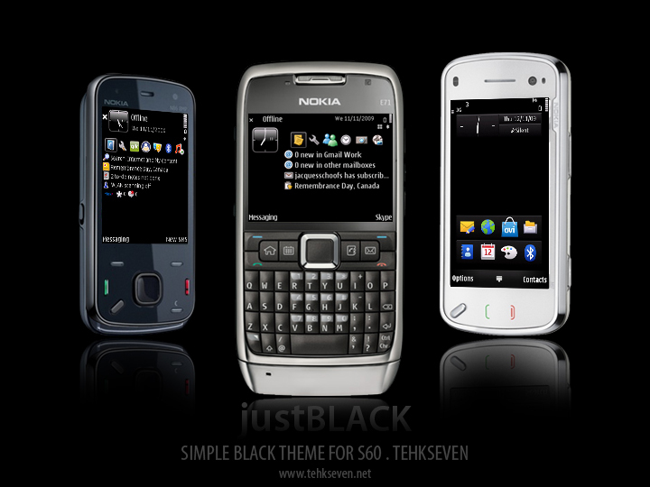 Download any Nokia E72 theme without any payments